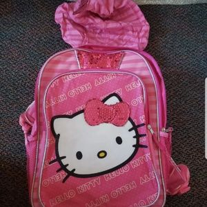 Slightly used Hello Kitty hoodie backpack